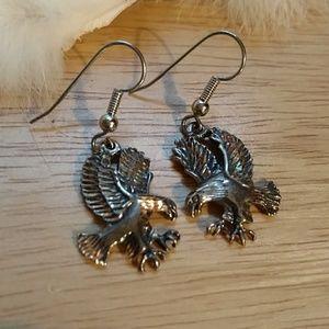 Eagle sterling silver earrings